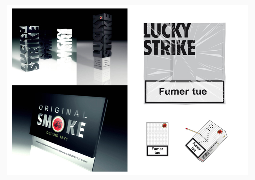 Lucky Strike - Pack and below the line