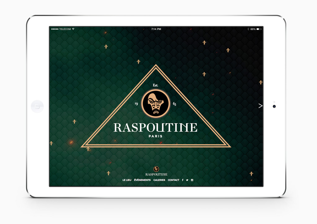 Raspoutine - Website